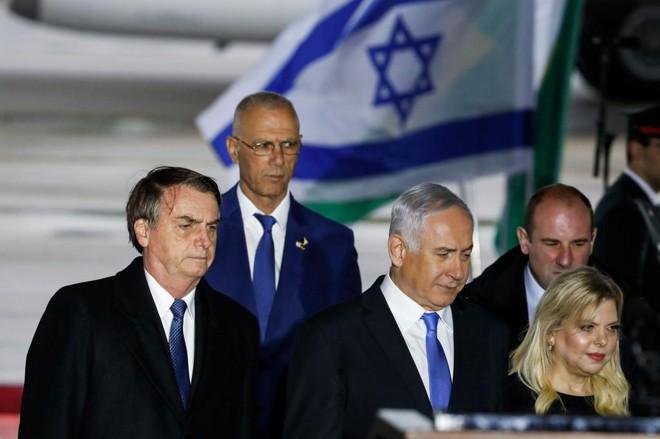 A decisão de abrir o escritório foi anunciada porJair Bolsonaro durante visita a Israel neste domingo | JACK GUEZ/AFP