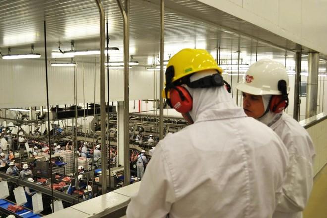 Unidade de produção da Alegra, marca de cortes e produtos suínos da Unium, em Castro, noParaná. | Divulgação/