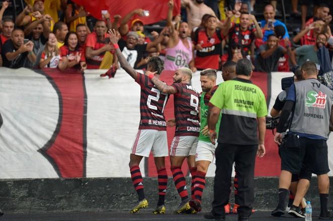 Bruno Henrique marcou os dois gols do Flamengo | CLEVER FELIX/AGÊNCIA O DIA/ESTADÃO CONTEÚDO/