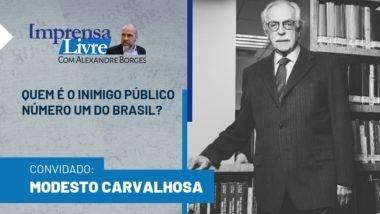 Modesto Carvalhosa é o primeiro entrevistado da 2ª temporada do Imprensa Livre com Alexandre Borges