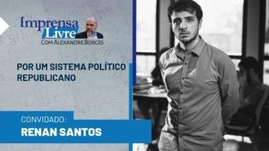 Renan Santos é o entrevistado do Imprensa Livre com Alexandre Borges