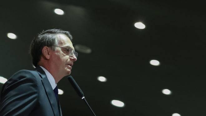 Presidente Jair Bolsonaro discursa em cerimônia de formatura de novos diplomatas do Instituto Rio Branco. Foto: Marcos Corrêa/PR
