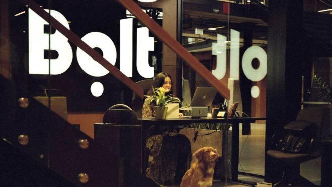 Recepção da Bolt, concorrente da Uber, em Tallinn, na Estônia