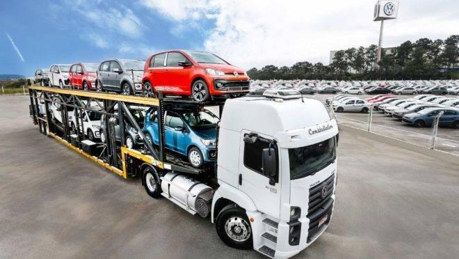 A Volkswagen é a maior exportadora de veículos no Brasil. Foto: Divulgação/ Volkswagen
