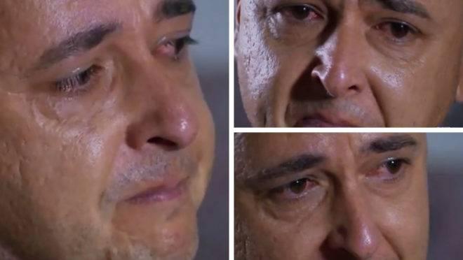 Tiago Nunes chora em entrevista ao falar da torcida do Athletico