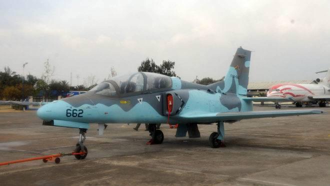 Uma aeronave Karakorum-8 da Força Aérea da Bolívia, o mesmo modelo de fabricação chinesa que reforça a esquadrilha de Maduro na Venezuela