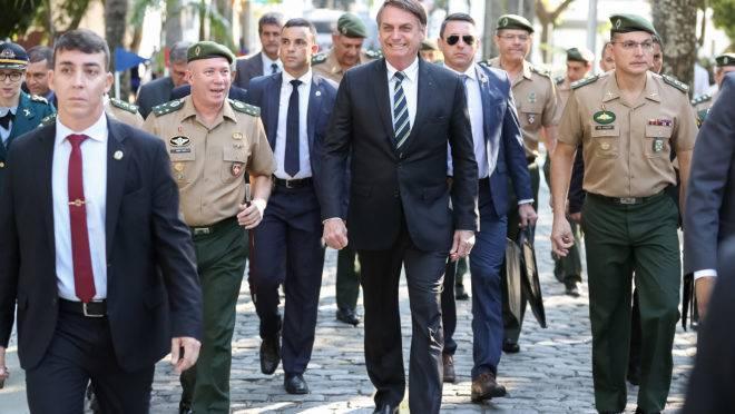 O presidente do Brasil Jair Bolsonaro em evento no Colégio Militar do Rio de Janeiro. Foto: Marcos Corrêa/PR
