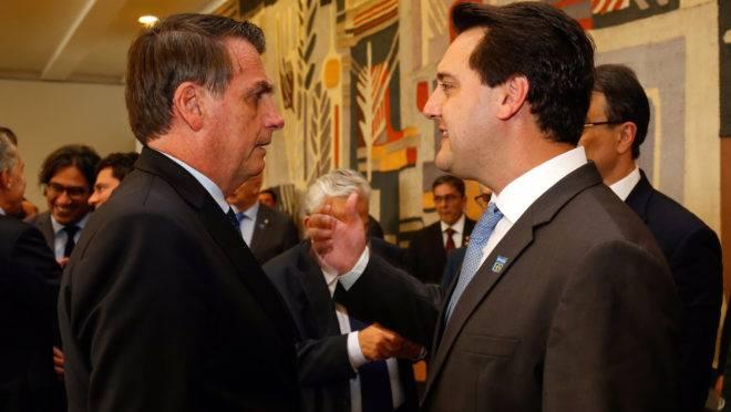 Presidente Jair Bolsonaro (PSL) e governador do Paraná, Ratinho Junior (PSD).