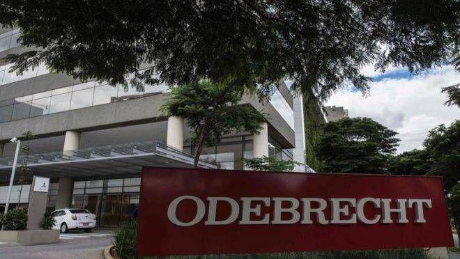 Sede da Odebrecht em São Paulo: empresa envolvida em esquema de corrupção com o governo   NELSON ALMEIDA/AFP