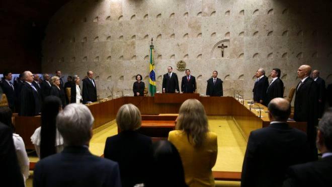 Sessão solene de abertura do Ano Judiciário de 2019 no STF.