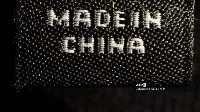 Etiqueta onde está escrito Made in China