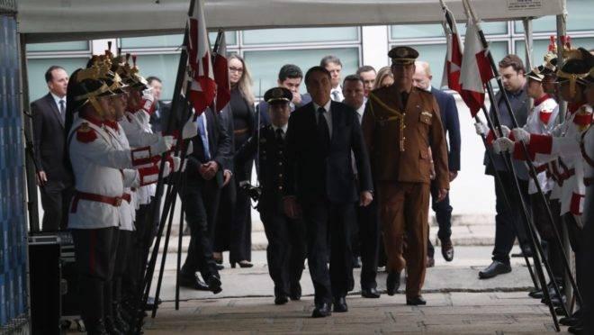 Jair Bolsonaro em visita a Curitiba
