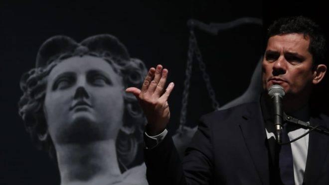 Sergio Moro durante palestra na Universidade Positivo, em Curitiba.