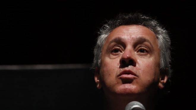 O desembargador João Pedro Gebran Neto, do Tribunal Regional Federal da 4ª Região (TRF-4), em palestra no Congresso Nacional Sobre Macrocriminalidade e Combate à Corrupção, em Curitiba.