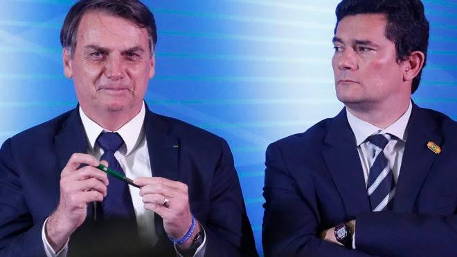 Bolsonaro diz que intenção de indicar Sergio Moro para uma vaga de ministro do STF está mantida.
