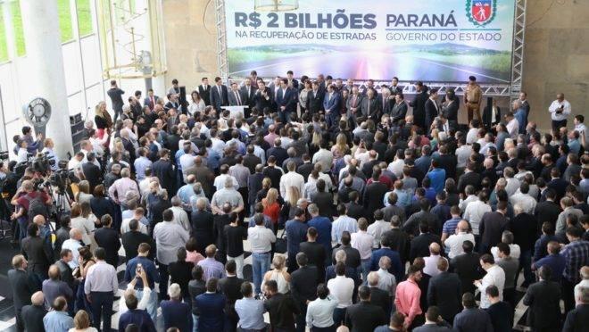 O governador Carlos Massa Ratinho Junior lançou, no dia 7 de maio, o programa de recuperação das rodovias estaduais.