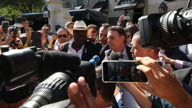 O presidente Jair Bolsonaro, ao chegar em Dallas, nesta quarta-feira. Foto: Marcos Corrêa | PR