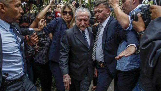 O ex-presidente Michel temer deixa a cadeia em 15 de maio de 2019. Foto: Miguel Schincariol/AFP