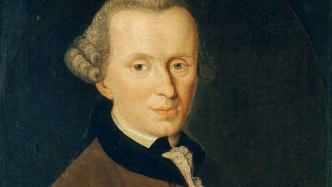 Retrato de Immanuel Kant.