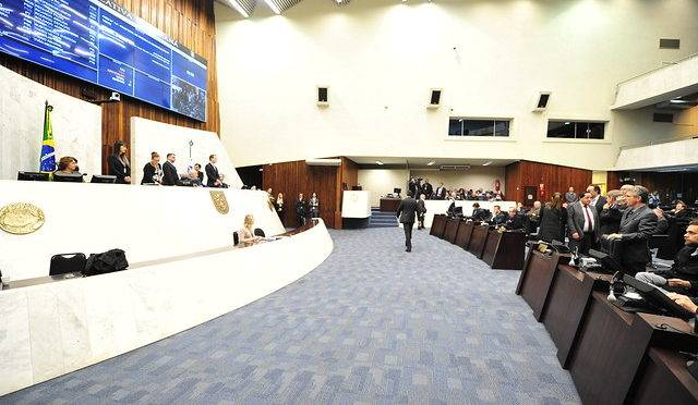 Sessão plenária da Assembleia Legislativa do Estado do Paraná