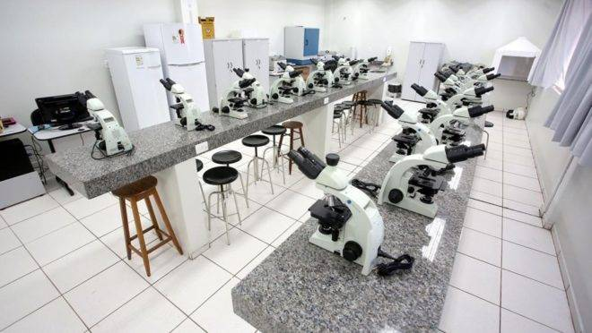 Laboratório da Unioeste em Francisco Beltrão.