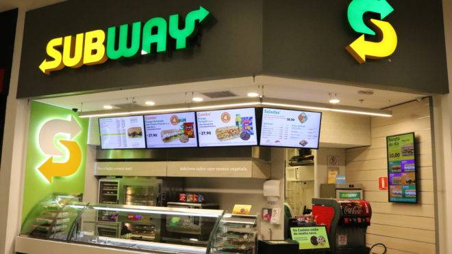 Unidade remodelada do Subway.