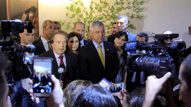 Parlamentares do PSL anunciam decisão de liberar bancada sobre apoio às manifestações pró-Bolsonaro. Foto: Edy Belitardo/Flickr PSL