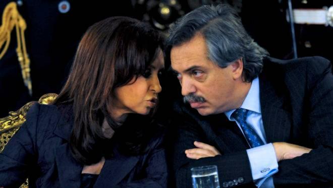 Ex-presidente e senadora da Argentina Cristina Kirchner e seu aliado político Alberto Fernández