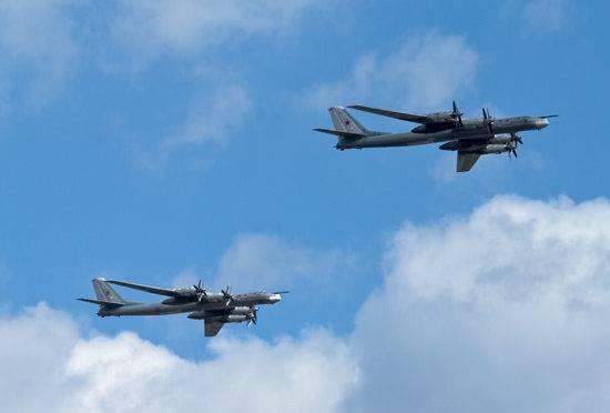 Dois bombardeiros TU-95 realizaram voos ao longo da costa oeste do Alasca