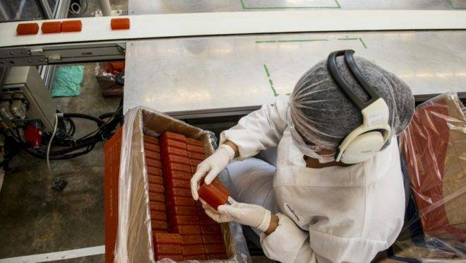 Fábrica de produção de sabonetes da Natura Ekos, em Belém