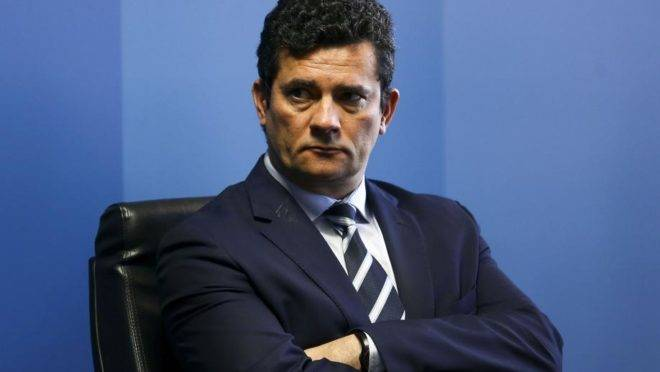 Sergio Moro, ministro da Justiça e ex-juiz. Foto: Marcelo Camargo/Agência Brasil
