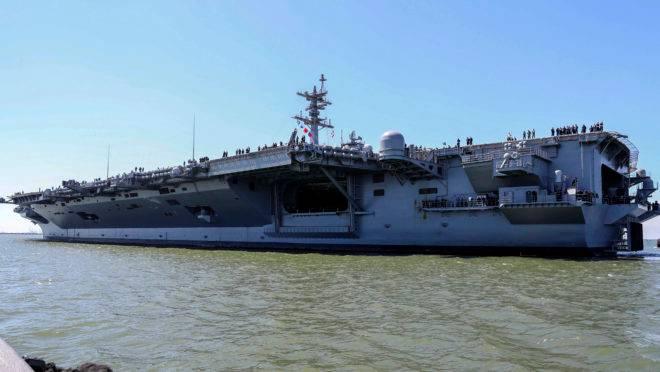 Recentemente, os EUA enviaram o porta-aviões da classe Nimitz, USS Abraham Lincoln, para o Golfo Pérsico