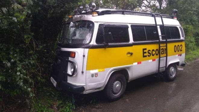 Segundo o próprio motorista, a Kombi não tinha autorização da Urbs para circular em Curitiba
