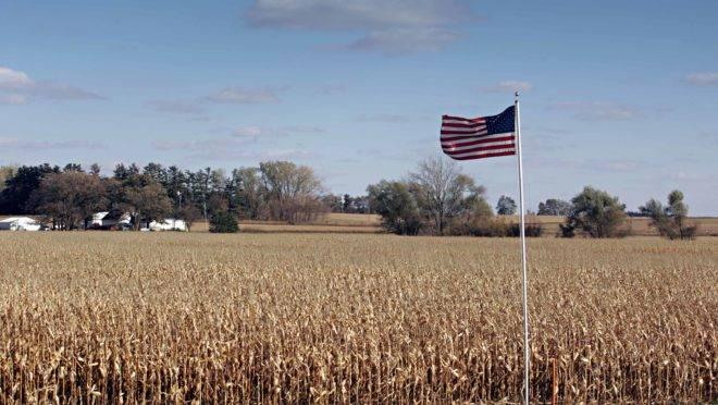Propriedade rural no estado americano de Minnesota.