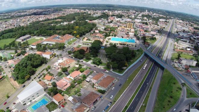 Vista aérea da cidade de Araucária