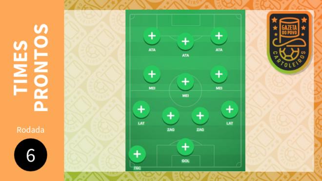 Cartola FC 2019 – 6ª rodada: sugestão de times para pontuar e valorizar