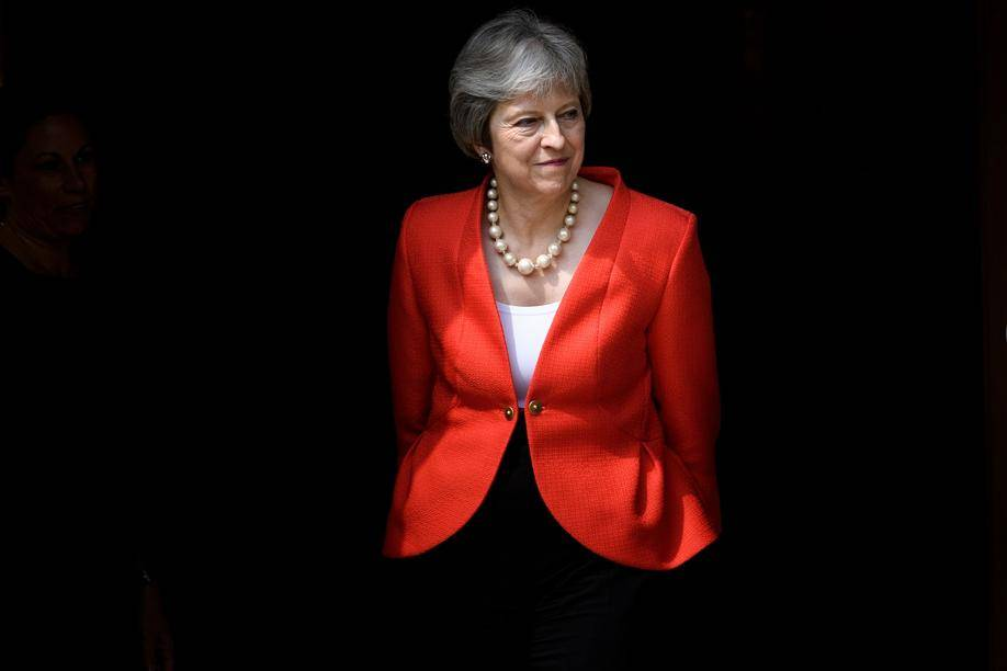 Primeira-ministra do Reino Unido, Theresa May   FOTO: Brendan Smialowski/AFP