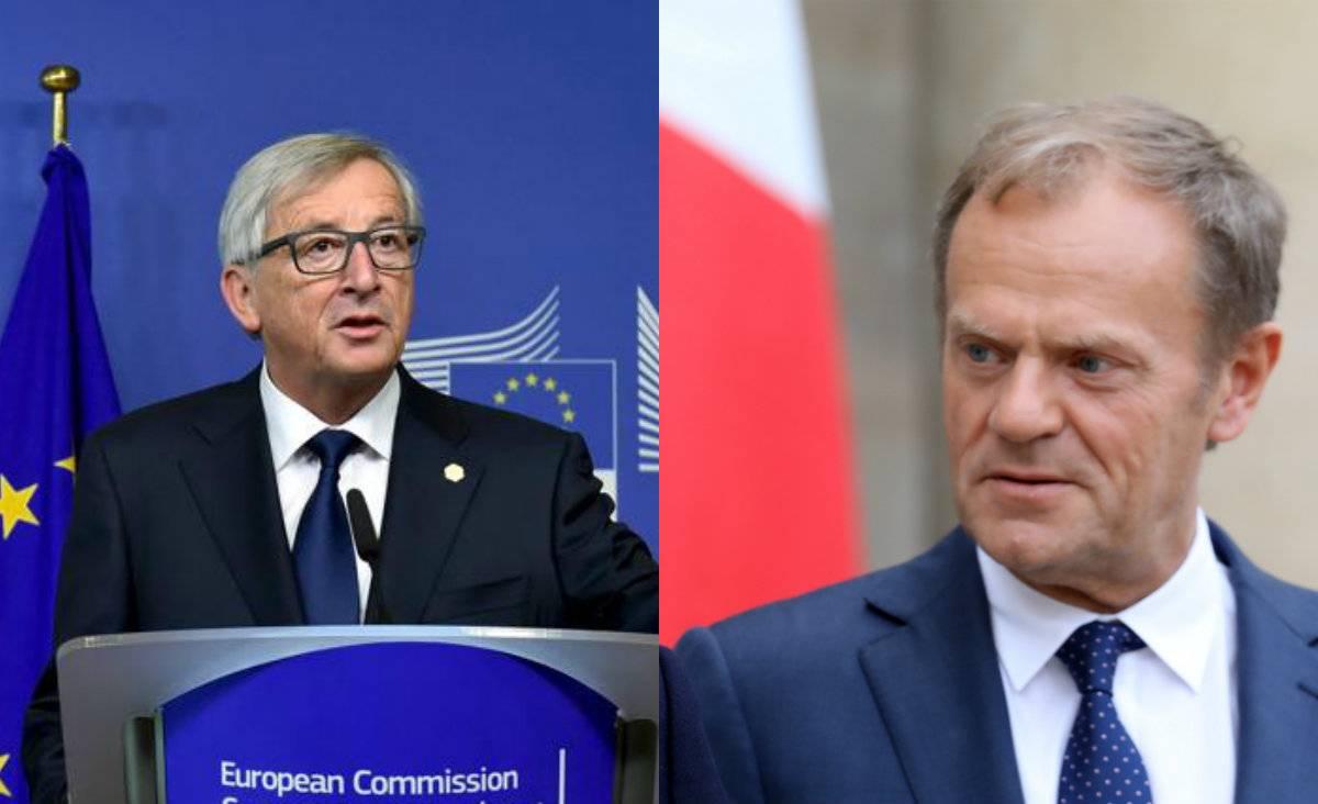 Jean-Claude Junckere Donald Tusk   Foto: AFP