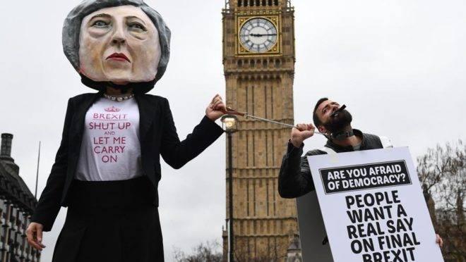 Protesto contra o Breixt, em Londres, Reino Unido, em março de 2017