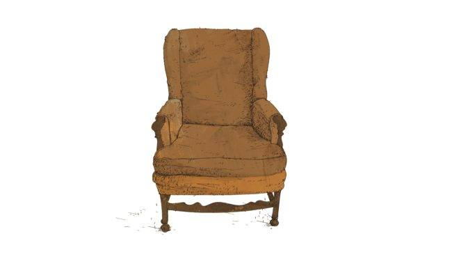 Ilustração da cadeira do personagem de Archie Bunker no seriado Tudo em Família