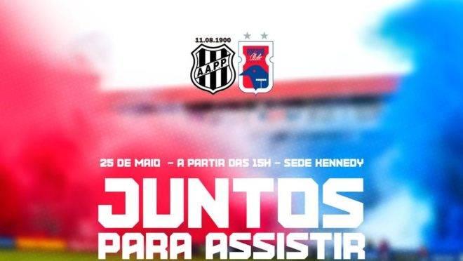 Paraná terá telão na Kennedy para torcida ver jogo contra a Ponte Preta