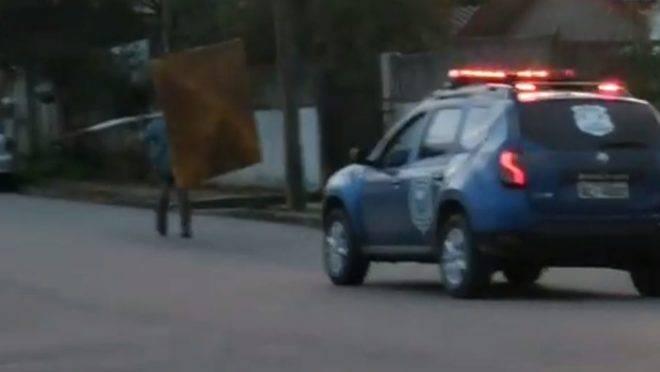 Após orientação da Guarda Municipal, homem devolveu o ponto