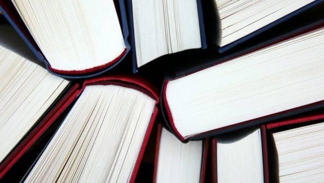 A foto traz imagem de livros, fazendo referência a pesquisas realizadas em universidades.