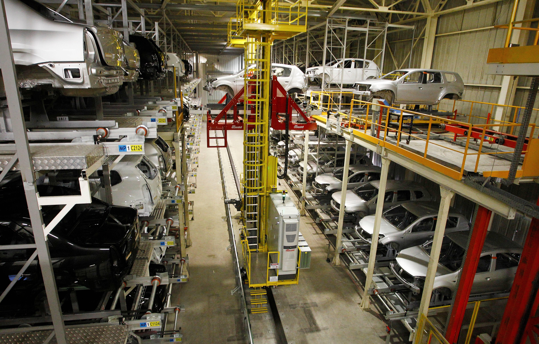 Área de pintura na fábrica de São José dos Pinhais. Foto: Renault/ Divulgação