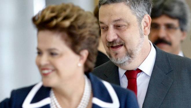 Antonio Palocci e Dilma Rousseff