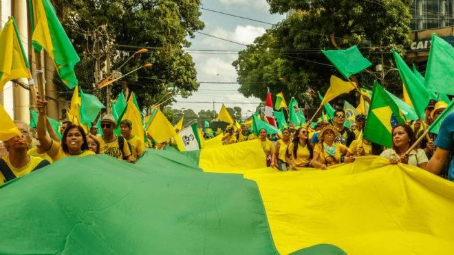 Manifestação a favor de Bolsonaro em Belém