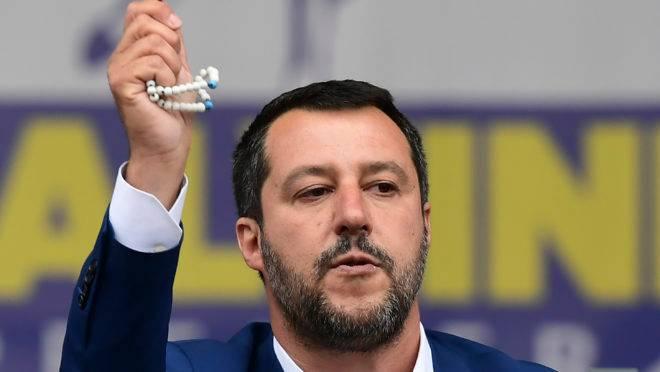 Vice-primeiro-ministro italiano e líder dos nacionalistas na disputa pelo Parlamento Europeu, Matteo Salvini