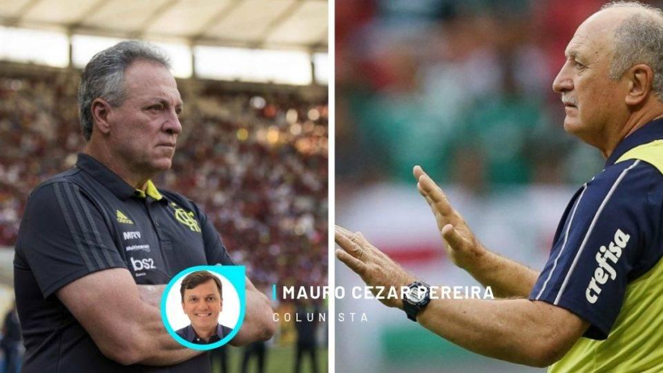Palmeiras de Felipão é retrato do jogo que impera no Brasil. No Fla, Abel tenta imitá-lo, mas não é capaz