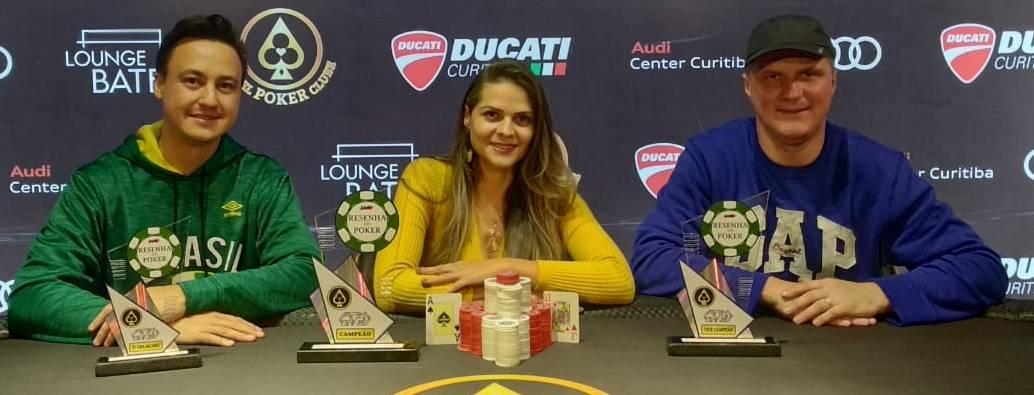 Flávia, Joarez e Ludger. Os três primeiros na quarta etapa de 2019.