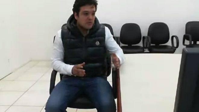 Carli Filho durante audiência de custódia